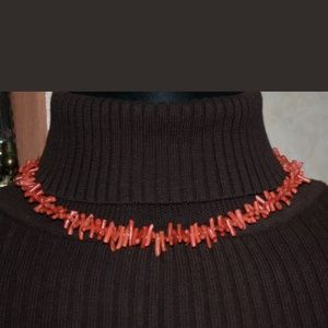 "Vintage Jewelry - PM 389 Genuine 17"" Coral Choker"